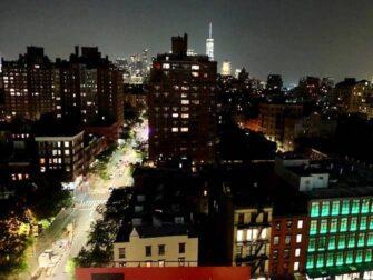West Village em Nova York - Vista noturna