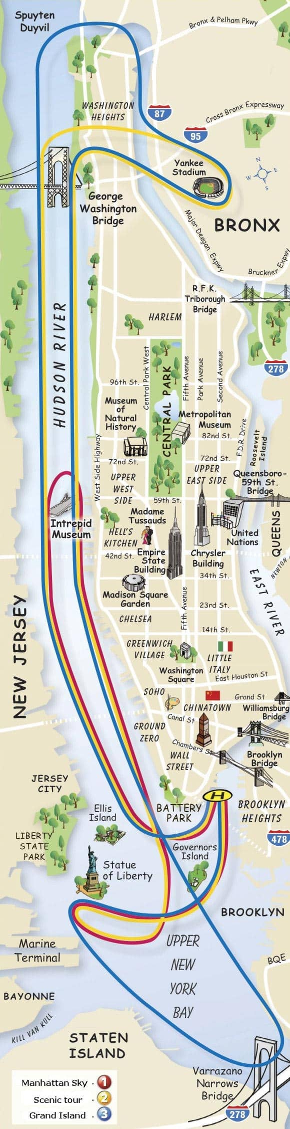 Mapa passeio de helicóptero