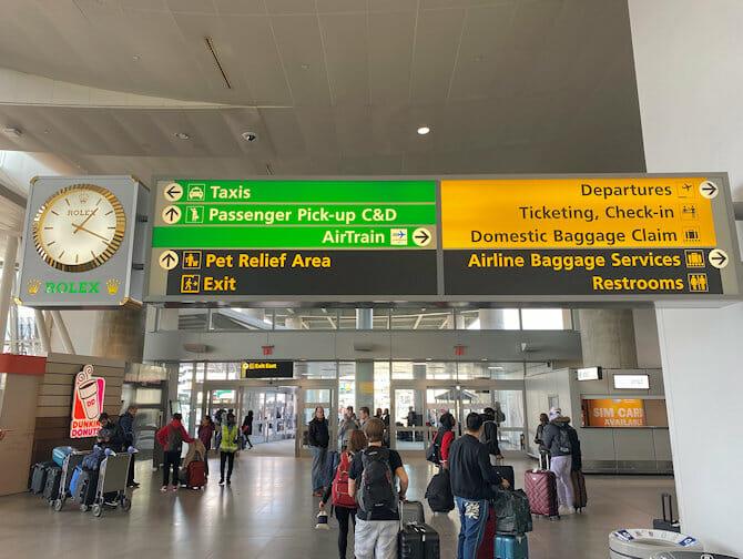 Transporte do aeroporto JFK para Manhattan