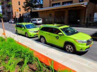Táxi verde em Nova York
