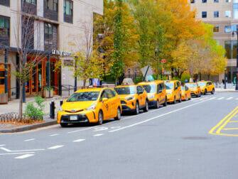 Táxis amarelos nas ruas de Nova York