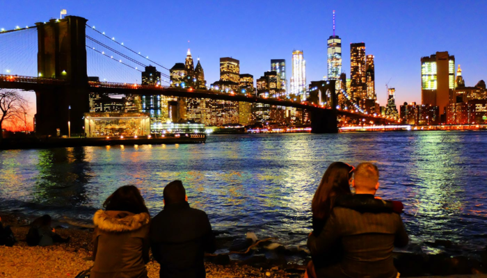 Brooklyn Bridge em Nova York - Panorama