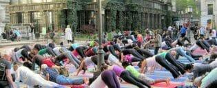 Aula de Yoga gratuita no Bryant Park