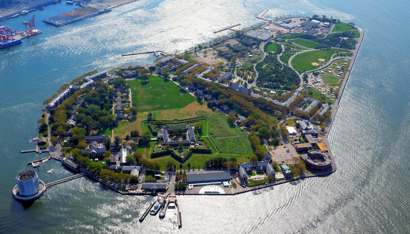 Governors Island em Nova York - Vista Aérea