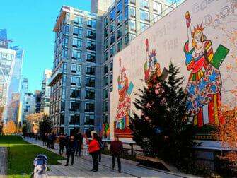 High Line Park em Nova York - Mural