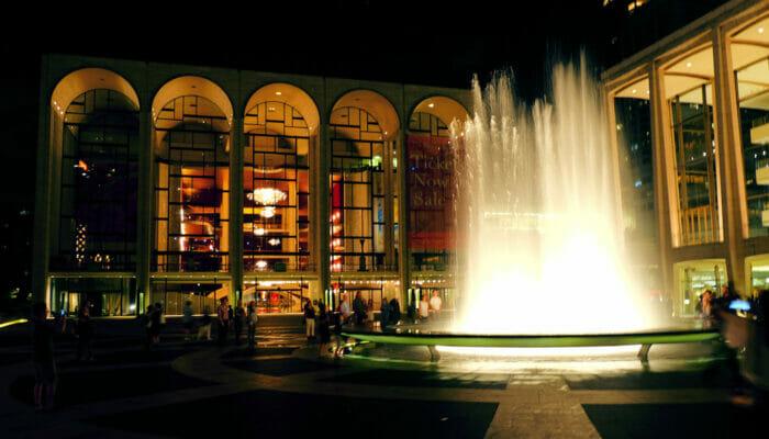 Lincoln Center em Nova York - Lincoln Center à noite