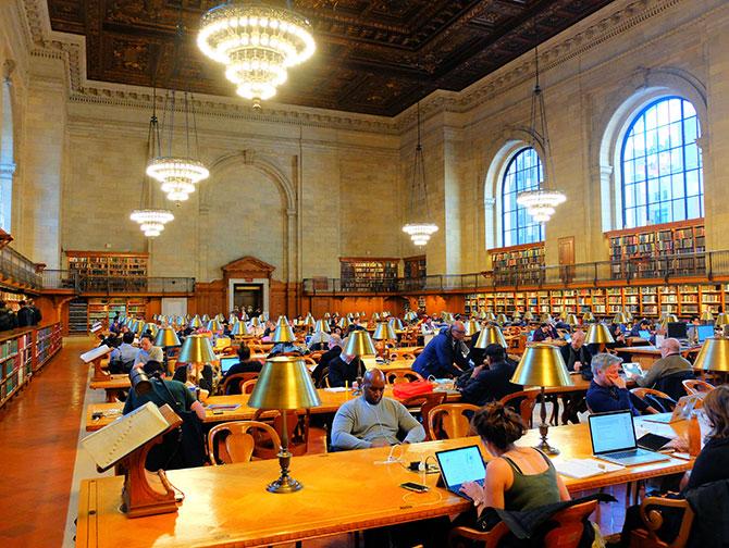 Biblioteca Pública de Nova York - Sala de leitura