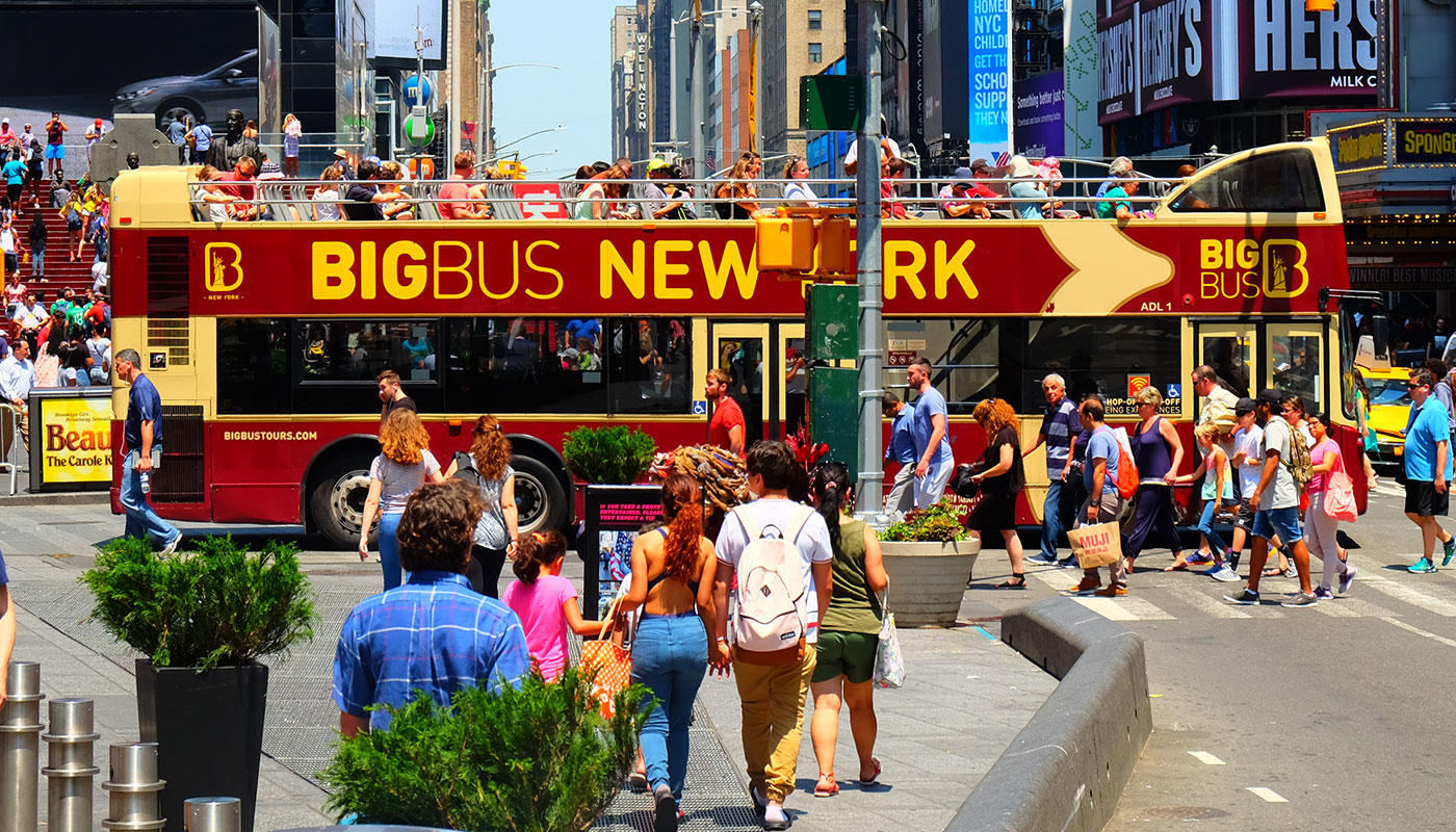 Big Bus em Nova York - Times Square