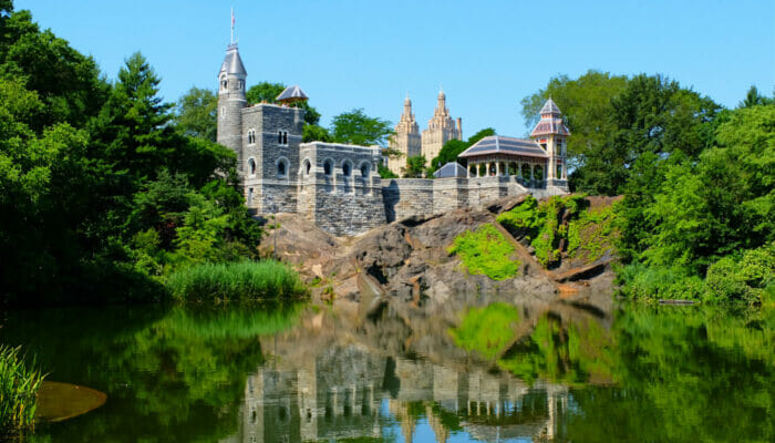 Central Park em Nova York - Castelo Belvedere