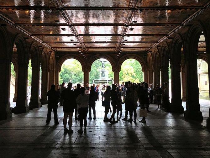 Central Park em Nova York - Bethesda Terrace