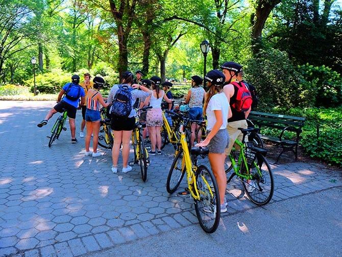 Central Park em Nova York - Passeio de Bicicleta