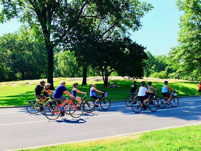 Central Park em Nova York - Bicicletas