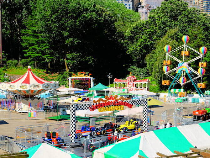 Central Park em Nova York - Victorian Gardens