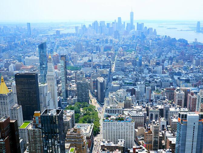 Ingressos Empire State Building - Vista Downtown Manhattan