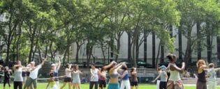 aula de dança Bryant Park