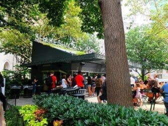 Parques em Nova York - Shake Shack no Madison Square Park