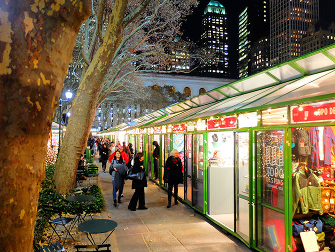 Clima de Natal em Nova York - Bryant Park