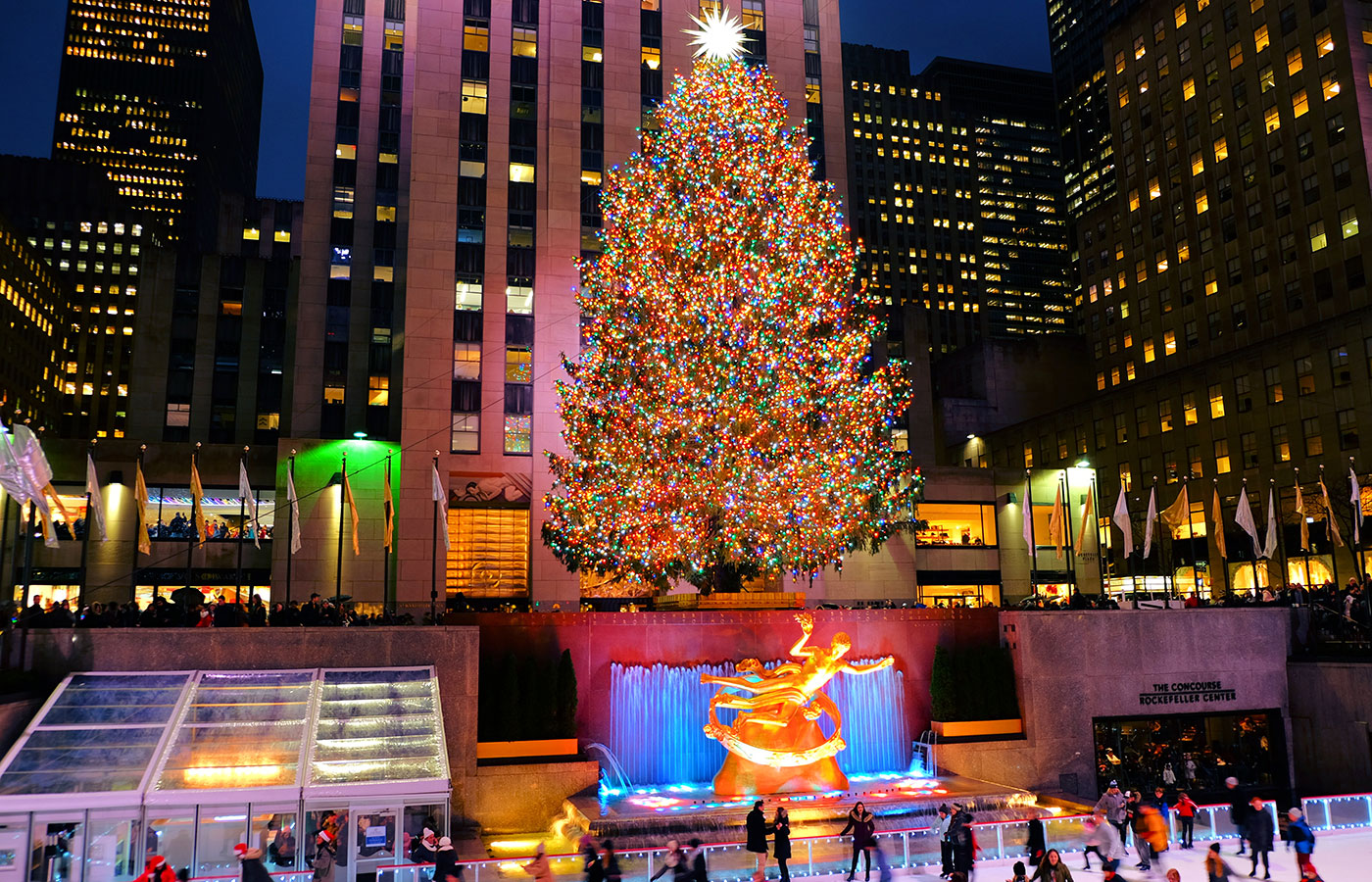 Clima de Natal em Nova York - Arvore do Rockefeller Center
