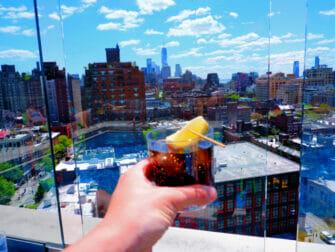 Bares em Cobertura em Nova York - Vista do Gansevoort Hotel