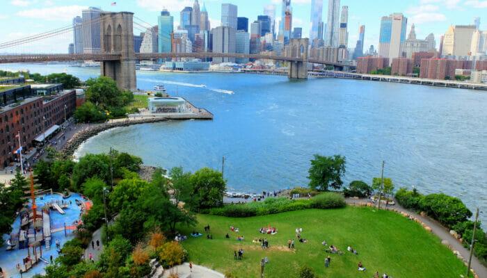 Brooklyn Bridge Park em Nova York - Do Alto