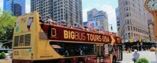 Ônibus turístico em Nova York