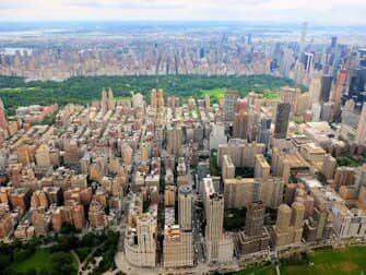 Rotas dos passeios de helicóptero em Nova York - Central Park