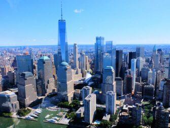 Rotas dos passeios de helicóptero em Nova York - Linha do Horizonte de Manhattan