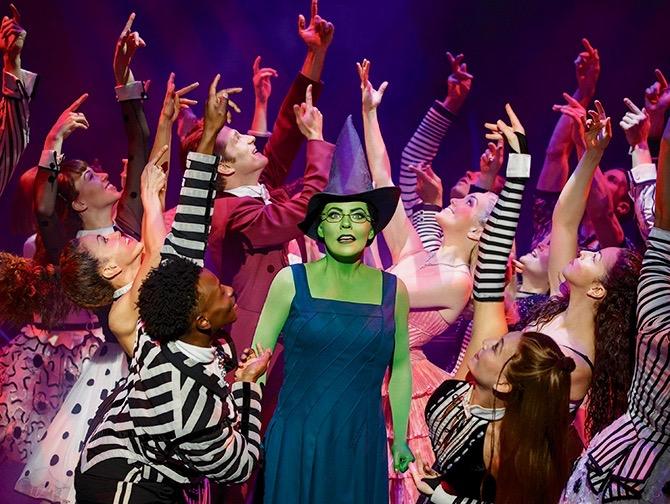 Ingressos para Wicked na Broadway - Elphaba e elenco