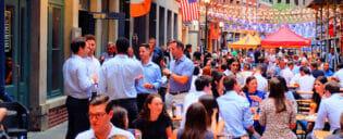 Restaurantes na Stone Street em Nova York