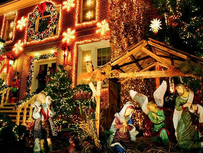Dyker Heights Christmas Lights - Presépio