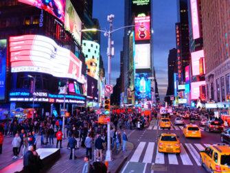 Ônibus turístico Gray Line em Nova York - Circuito Noturno