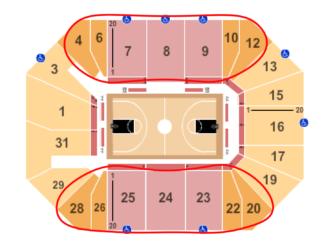 Ingressos para New York Liberty Basketball - Mapa de assentos do Barclays Center