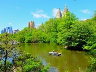 Aluguel de Barco a Remo no Central Park - Casal Remando