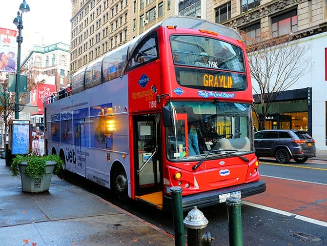New York Sightseeing Day Pass - Ônibus Hop On Hop Off