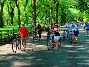 Tour de bicicleta elétrica em Nova York