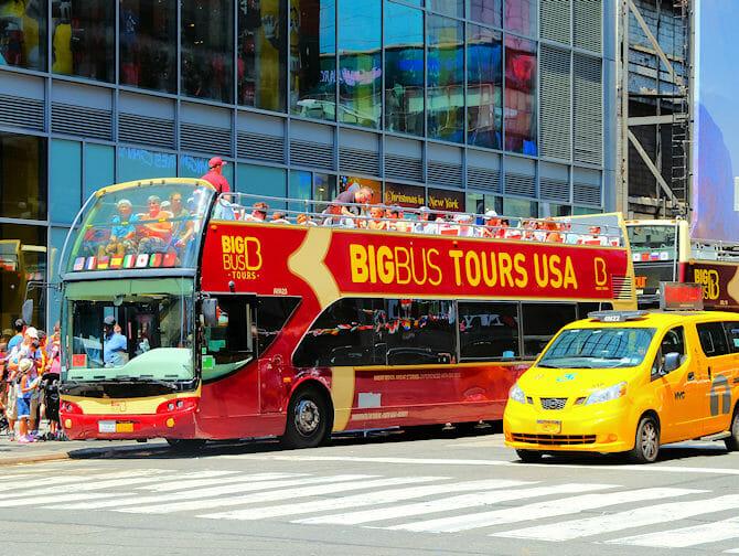 Diferença entre New York Sightseeing Flex Pass e Sightseeing Day Pass - Ônibus Hop-on Hop-off