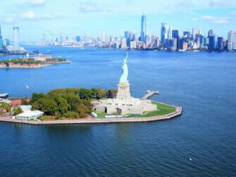 Passeio de Helicóptero em Nova York -Estátua da Liberdade & Downtown
