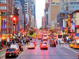 Ônibus turístico em Nova York - Parada do Ônibus