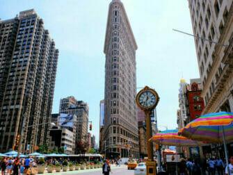 Flatiron Building em Nova York - Relógio no Flatiron Building