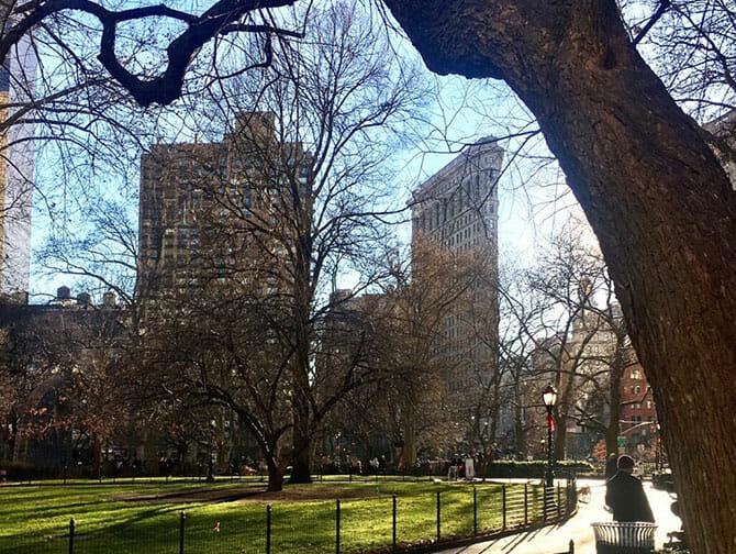 Flatiron Building em Nova York - Madison Square Park