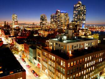 Williamsburg no Brooklyn - Noite no Rooftop