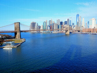 Manhattan Bridge em Nova York - Vista da ponte