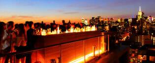 Vida noturna em Uptown ou Downtown em Nova York
