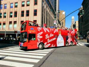 Ônibus turístico Gray Line em Nova York