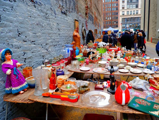 Mercados de pulga em Nova York